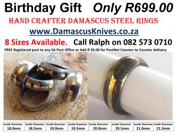 Product Number: Damascus Ring