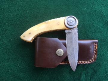 Product Number: 857- Camel bone & Damascus-FP